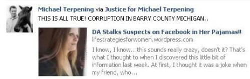 Barry County Prosecutor Stalks Terpening?